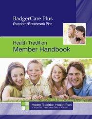 BadgerCare Plus Handbook - Health Tradition Health Plan
