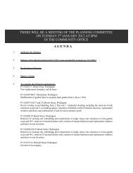 agenda there will be a meeting of the planning committee on ...