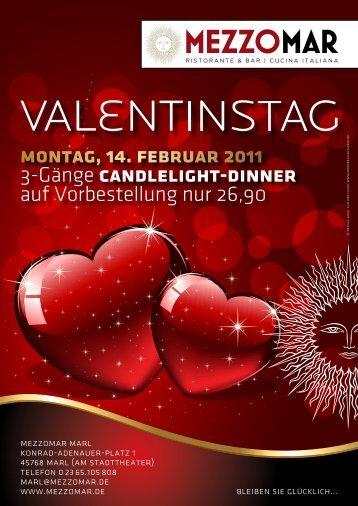 montag, 14. februar 2011 3-Gänge candlelight-dinner ... - Xdcms2.com