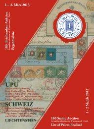 180. Auktion - Corinphila Auktionen AG