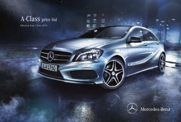 A-Class Price List June 2013 (1.98 MB) - Mercedes-Benz