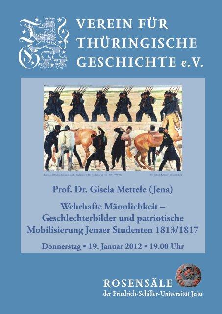Prof. Dr. Gisela Mettele - Verein für Thüringische Geschichte
