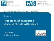 First steps of processing space VLBI data with VieVS