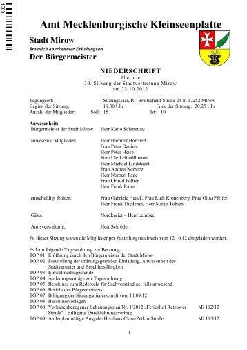 Das gläserne Rathaus. - Amt Mecklenburger Kleinseenplatte