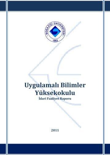 Uygulamalı Bilimler Yüksekokulu - Boğaziçi Üniversitesi