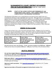 the pdf document. - District of Kansas