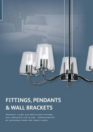 FITTINGS, PENDANTS & WALL BRACKETS - WF Senate