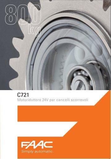 Motoriduttore 24V per cancelli scorrevoli - Faac