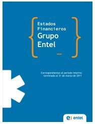 Estados Financieros Grupo Entel