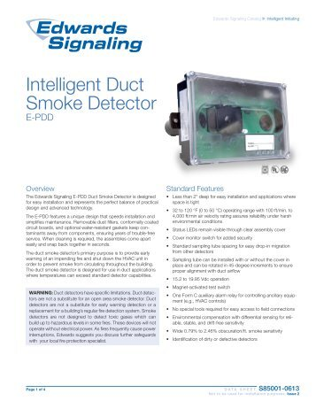 Innovair Dh100acdclp Duct Smoke Detector Johnson