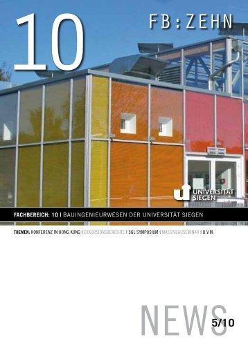 fb:zehn - Department Bauingenieurwesen - Universität Siegen