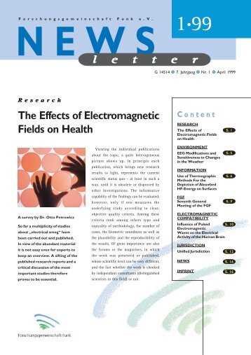 The Effects of Electromagnetic Fields on Health