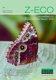Umweltbericht Environmental Report 2012 - Ziegler Papier AG