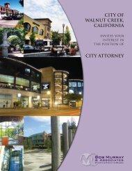 CITY OF WALNUT CREEK, CALIFORNIa - Bob Murray & Associates