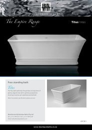 Specifications brochure - Boutique Baths