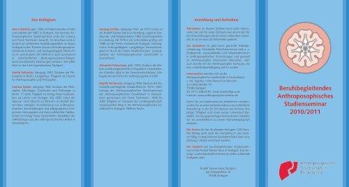 Berufsbegleitendes Anthroposophisches Studienseminar 2010/2011