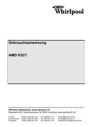 beschreibung der betriebsarten - Home - MAM V2.0, Bauknecht AG ...