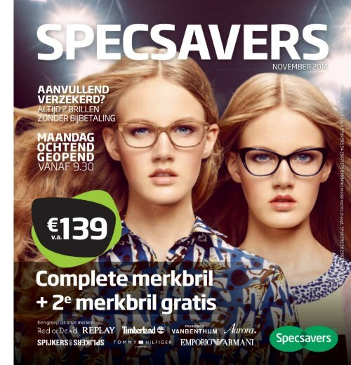 Specsavers folder en aanbiedingen van 10 november t/m 7 december 2014