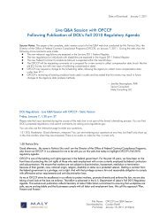OFCCP Web Chat Notes and Script Jan 7 2011 - Maly Consulting LLC
