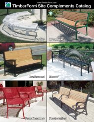 TimberForm® Site Complements Catalog - Columbia Cascade ...