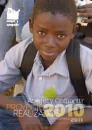 Memoria 2010 - Acoger y Compartir