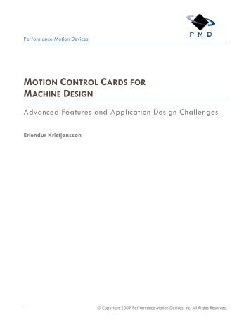 motion control cards for machine design - Automation.com