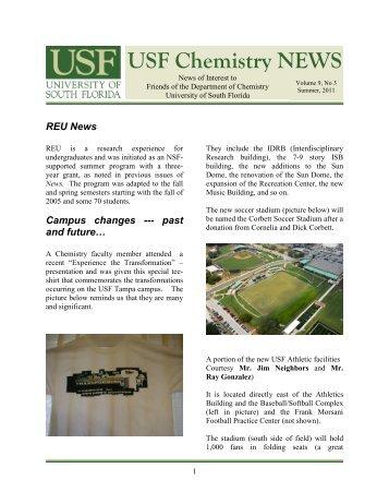 USF Chemistry NEWS - Chemistry - University of South Florida