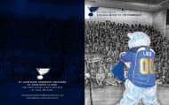 ST. LOUIS BLUES 2010-2011 RepoRt to the community ... - NHL.com