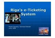 Riga's e-Ticketing System - URTP