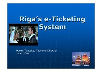 Riga's e-Ticketing System - URTP