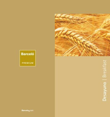 Carta de desayunos - Barcelo.com