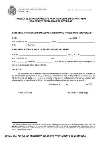 Policía Local (Sello Registro General) - Ayuntamiento de Cartagena