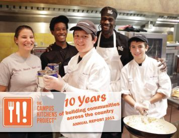 2011 Annual Report - The Campus Kitchens Project