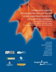 Améliorer la capacité des organismes sans but ... - Imagine Canada