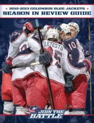2012-13 Season In Review Guide - Columbus Blue Jackets