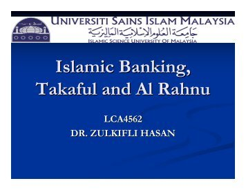 Legal Issues on Takaful