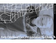 Early Childhood Care and Education Fact Book - IFF