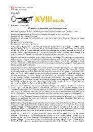 09-03-2006 Discursos i conferències Humanitzar la humanitat ...