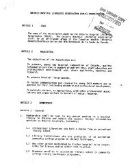 A2.2 CONSTITUTION 1986 - Ontario Health Libraries Association