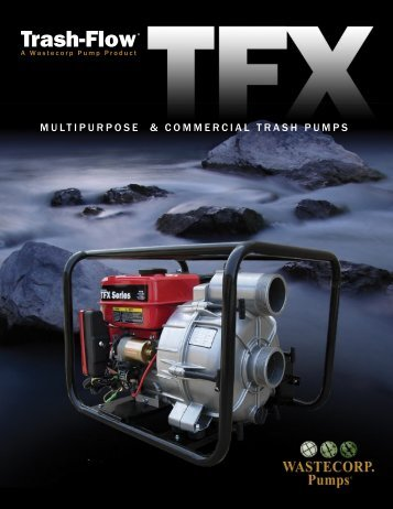 TFX Commercial Trash Pumps – Wastecorp Pumps – Pump ...