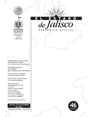 Sección VIII - Periódico Oficial El Estado de Jalisco