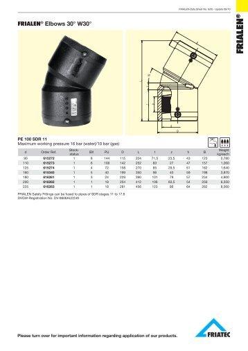 FRIALEN® Elbows 30° W30°