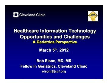 Presentation - Center for Health Care Research & Policy