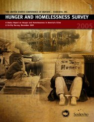 2005 Hunger and Homelessness Survey - U.S. Conference of Mayors