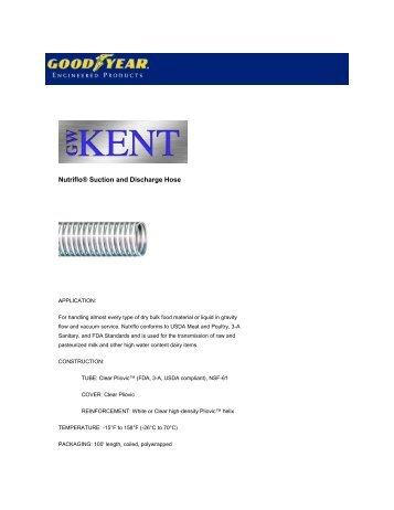 Nutriflo® Suction and Discharge Hose - GW Kent