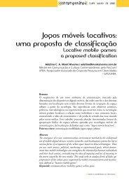 Jogos móveis locativos: uma proposta de ... - Contemporânea