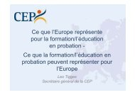 en probation Ce que la formation - CEP, the European Organisation ...