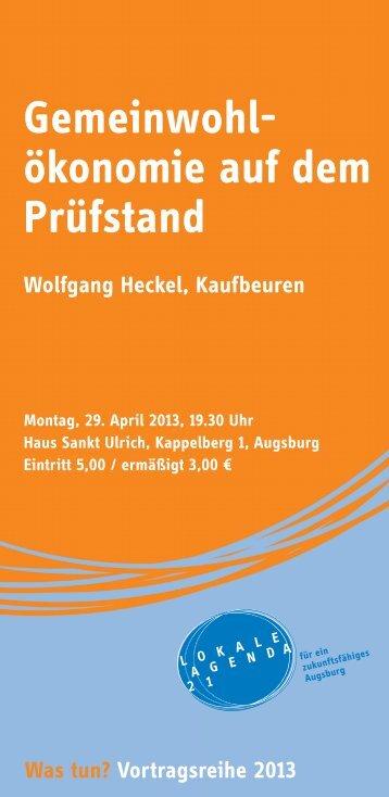 in diesem Jahr - Nachhaltigkeit - Stadt Augsburg