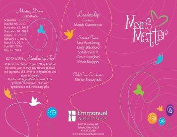 2013 Mom's Matter Brochure