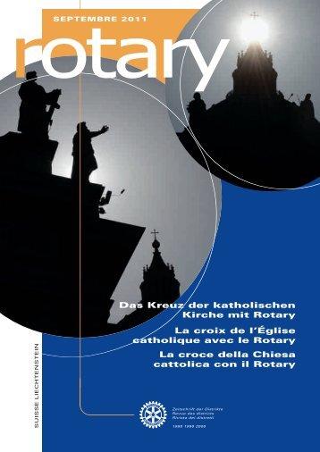 Das Kreuz der katholischen Kirche mit Rotary La ... - Rotary Schweiz